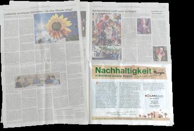 SolarZaun - Beitrag in der Marbacher Zeitung