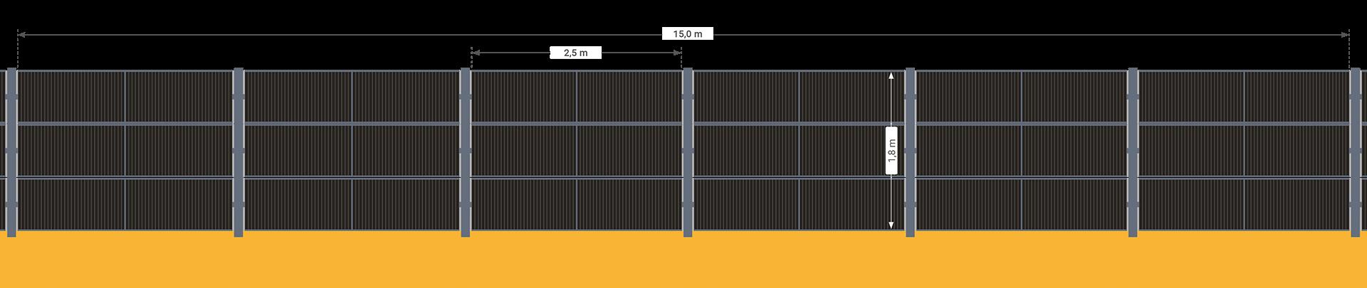 SolarZaun Solar Zaun Länge und Aufteilung der Module