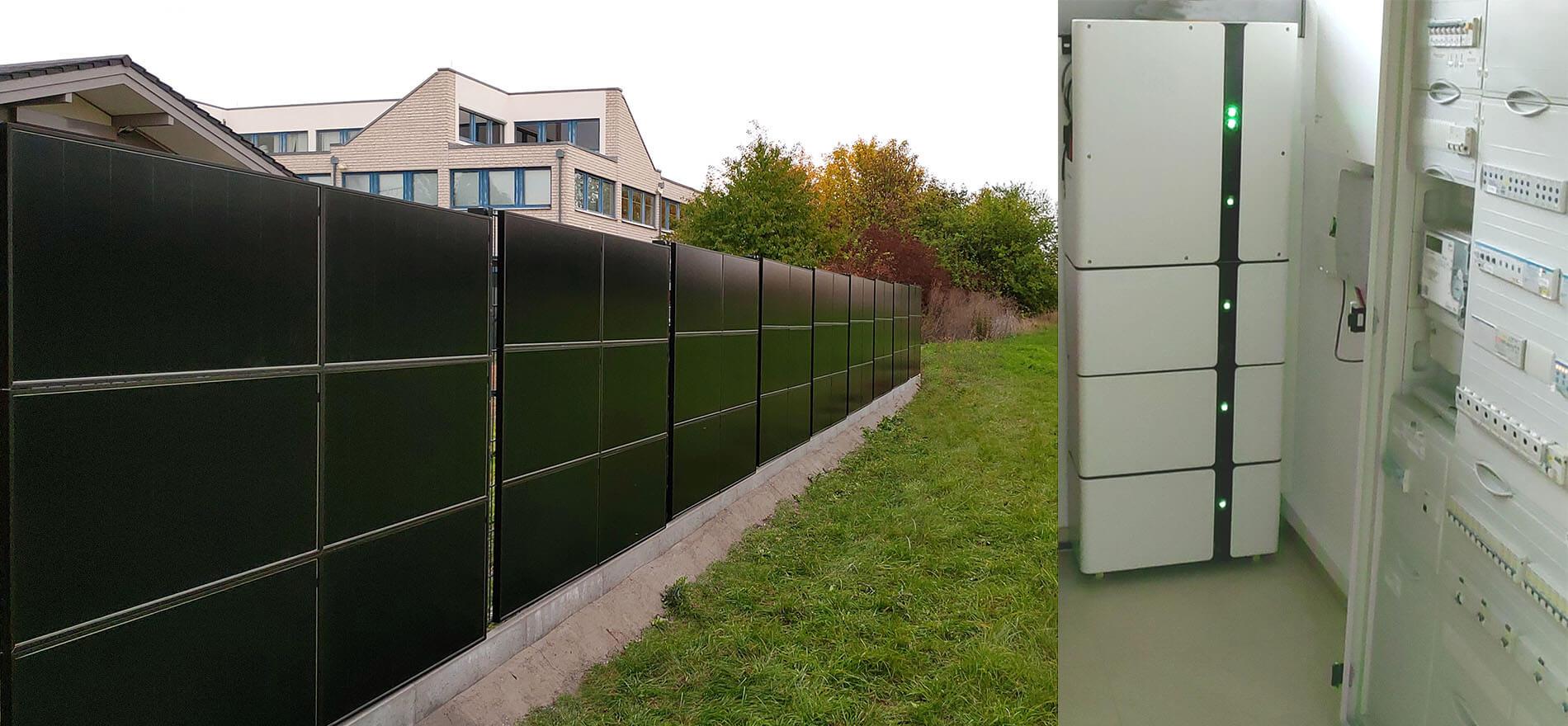SolarZaun Anlage am Wohnhaus in Taucha bei Leipzig